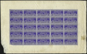 Sale Number 1068, Lot Number 801, U.S. Possessions: Philippines, 1934-43PHILIPPINES, 1943, 2c Blue, Free Philippines Guerrilla Postal Service (Unlisted), PHILIPPINES, 1943, 2c Blue, Free Philippines Guerrilla Postal Service (Unlisted)