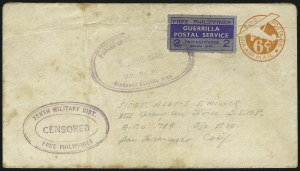 Sale Number 1068, Lot Number 802, U.S. Possessions: Philippines, 1934-43PHILIPPINES, 1943, 2c Blue, Free Philippines Guerrilla Postal Service (Unlisted), PHILIPPINES, 1943, 2c Blue, Free Philippines Guerrilla Postal Service (Unlisted)