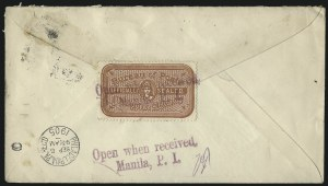 Sale Number 1068, Lot Number 840, U.S. Possessions: Philippines, Back-of-Book and Group LotsPHILIPPINES, 1906, Post Office Seal (OX1), PHILIPPINES, 1906, Post Office Seal (OX1)