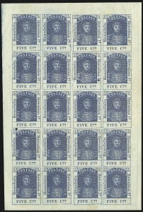 Sale Number 1068, Lot Number 885, Hawaii: Stampless thru 1868 Kamehameha III IssuesHAWAII, 1868, 5c Blue, Re-Issue (10), HAWAII, 1868, 5c Blue, Re-Issue (10)