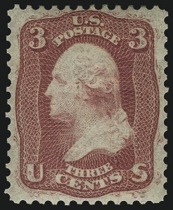 Sale Number 1068, Lot Number 98, 1861-68 Issues and 1875 Re-Issue3c Brown Rose, First Design (56), 3c Brown Rose, First Design (56)