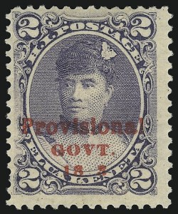 "Sale Number 1068, Lot Number 981, Hawaii: 1893 Provisional Ovpts.HAWAII, 1893, 2c Dull Violet, Red Ovpt., ""18 3"" Instead of ""1893"" (57a), HAWAII, 1893, 2c Dull Violet, Red Ovpt., ""18 3"" Instead of ""1893"" (57a)"