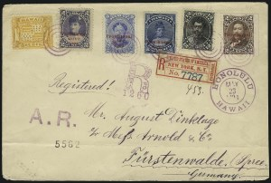 Sale Number 1068, Lot Number 990, Hawaii: 1893 Provisional Ovpts.HAWAII, 1893, 1c-12c Provisional, Red Ovpts. (54, 56, 57, 59, 62), HAWAII, 1893, 1c-12c Provisional, Red Ovpts. (54, 56, 57, 59, 62)