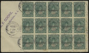 Sale Number 1068, Lot Number 991, Hawaii: 1893 Provisional Ovpts.HAWAII, 1893, 1c Green, Red Ovpt. (55), HAWAII, 1893, 1c Green, Red Ovpt. (55)