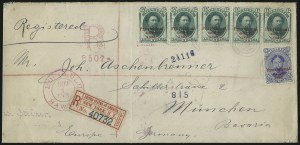 Sale Number 1068, Lot Number 998, Hawaii: 1893 Provisional Ovpts.HAWAII, 1893, 5c Ultramarine, 6c Green, Red Ovpts. (59, 60), HAWAII, 1893, 5c Ultramarine, 6c Green, Red Ovpts. (59, 60)