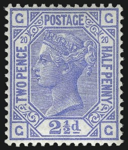 Sale Number 1070, Lot Number 2214, Great Britain, Surface-Printed (Continued...)GREAT BRITAIN, 1880, 2-1/2p Ultramarine (68; SG 142), GREAT BRITAIN, 1880, 2-1/2p Ultramarine (68; SG 142)