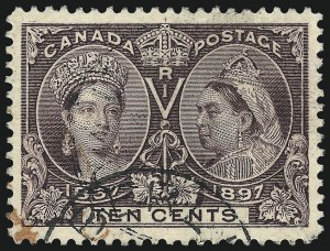 Sale Number 1070, Lot Number 2386, Canada, Jubilees thru 20th Century IssuesCANADA, 1897, 10c Jubilee (57), CANADA, 1897, 10c Jubilee (57)