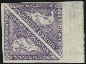 Sale Number 1070, Lot Number 2422, Cape of Good HopeCAPE OF GOOD HOPE, 1863, 6p Purple (14; SG 20), CAPE OF GOOD HOPE, 1863, 6p Purple (14; SG 20)