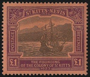 Sale Number 1070, Lot Number 2682, St. Helena thru St. LuciaST. KITTS-NEVIS, 1923, -1/2p-£1 Tercentenary (52-64; SG 48-60), ST. KITTS-NEVIS, 1923, -1/2p-£1 Tercentenary (52-64; SG 48-60)