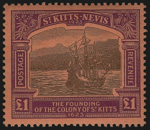Sale Number 1070, Lot Number 2683, St. Helena thru St. LuciaST. KITTS-NEVIS, 1923, -1/2p-£1 Tercentenary (52-64; SG 48-60), ST. KITTS-NEVIS, 1923, -1/2p-£1 Tercentenary (52-64; SG 48-60)
