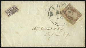 Sale Number 1071, Lot Number 4363, Carriers and Locals, Cont., Sanitary Fair, Christmas SealsHopedale Penny Post, Milford Mass., (1c) Black on Pink Glazed, Plain Asterisks (84L2), Hopedale Penny Post, Milford Mass., (1c) Black on Pink Glazed, Plain Asterisks (84L2)