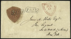 Sale Number 1071, Lot Number 4372, Carriers and Locals, Cont., Sanitary Fair, Christmas SealsMetropolitan Errand and Carrier Express Co., New York N.Y., 1c Red Orange (107L1), Metropolitan Errand and Carrier Express Co., New York N.Y., 1c Red Orange (107L1)