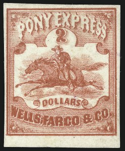 Sale Number 1071, Lot Number 4386, Carriers and Locals, Cont., Sanitary Fair, Christmas SealsWells, Fargo & Co. Pony Express, $1.00-$4.00, 10c-25c Horse & Rider Issues (143L1-143L5, 143L6R, 143L7-143L9), Wells, Fargo & Co. Pony Express, $1.00-$4.00, 10c-25c Horse & Rider Issues (143L1-143L5, 143L6R, 143L7-143L9)