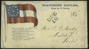 "Sale Number 1071, Lot Number 4471, Confederate States: Provisionals thru Confederate Texas(Natchez Miss.) ""DUE 10"", (Natchez Miss.) ""DUE 10"""