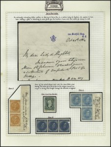 Sale Number 1071, Lot Number 4494, Confederate States: Essays & ProofsDe La Rue, London, 1864 Letter and Stamps, De La Rue, London, 1864 Letter and Stamps