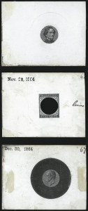Sale Number 1071, Lot Number 4498, Confederate States: Essays & Proofs5c Black, De La Rue, Large Die Trial Color Proof on Glazed Card (6TC1 var), 5c Black, De La Rue, Large Die Trial Color Proof on Glazed Card (6TC1 var)