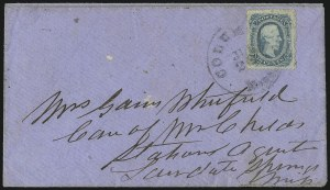 Sale Number 1071, Lot Number 4571, Confederate States: Off-Cover Shades and Varieties, Perforations10c Blue, Die B, Perforated (12f), 10c Blue, Die B, Perforated (12f)