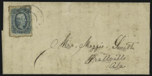 Sale Number 1071, Lot Number 4571A, Confederate States: Off-Cover Shades and Varieties, Perforations10c Blue, Die B, Perforated (12f), 10c Blue, Die B, Perforated (12f)