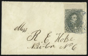 Sale Number 1071, Lot Number 4647, Confederate States: General Issue Covers, Scott 1-35c Olive Green, Stone 1 (1c), 5c Olive Green, Stone 1 (1c)