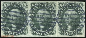 Sale Number 1074, Lot Number 505, 5c-10c 1851 Issue (Scott 12-16)10c Green, Ty. II (14), 10c Green, Ty. II (14)