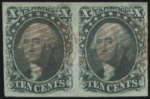 Sale Number 1074, Lot Number 518, 5c-10c 1851 Issue (Scott 12-16)10c Green, Ty. III (15), 10c Green, Ty. III (15)
