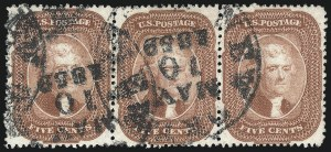 Sale Number 1074, Lot Number 550, 5c 1857-60 Issue (Scott 27-30A)5c Brick Red (27), 5c Brick Red (27)