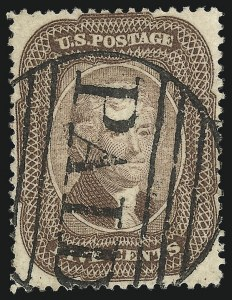 Sale Number 1074, Lot Number 554, 5c 1857-60 Issue (Scott 27-30A)5c Brown (29), 5c Brown (29)