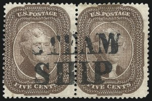 Sale Number 1074, Lot Number 560, 5c 1857-60 Issue (Scott 27-30A)5c Brown (29), 5c Brown (29)