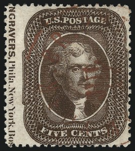 Sale Number 1074, Lot Number 567, 5c 1857-60 Issue (Scott 27-30A)5c Brown, Ty. II (30A), 5c Brown, Ty. II (30A)