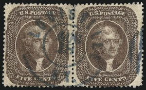 Sale Number 1074, Lot Number 569, 5c 1857-60 Issue (Scott 27-30A)5c Brown, Ty. II (30A), 5c Brown, Ty. II (30A)