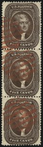 Sale Number 1074, Lot Number 571, 5c 1857-60 Issue (Scott 27-30A)5c Brown, Ty. II (30A), 5c Brown, Ty. II (30A)