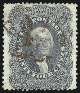 Sale Number 1074, Lot Number 634, 12c-24c 1857-60 Issue (Scott 36-37)24c Gray (37a), 24c Gray (37a)