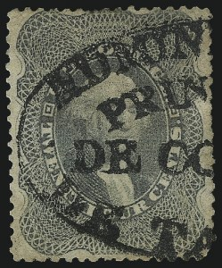 Sale Number 1074, Lot Number 635, 12c-24c 1857-60 Issue (Scott 36-37)24c Gray (37a), 24c Gray (37a)