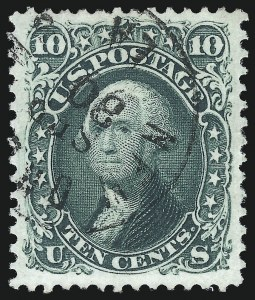 "Sale Number 1074, Lot Number 674, 10c 1861 Issue (Scott 68)10c Yellow Green, ""TAG"" (68 var), 10c Yellow Green, ""TAG"" (68 var)"