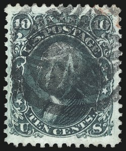 Sale Number 1074, Lot Number 681, 10c 1861 Issue (Scott 68)10c Yellow Green (68), 10c Yellow Green (68)