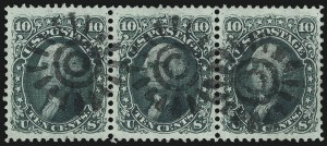 Sale Number 1074, Lot Number 698, 10c 1861 Issue (Scott 68)10c Yellow Green (68), 10c Yellow Green (68)