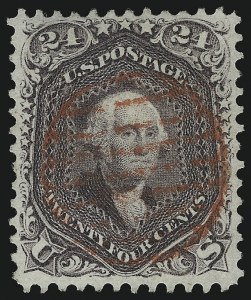 Sale Number 1074, Lot Number 726, 24c Lilac, Steel Blue, Violet Shades, 1861 Issue (Scott 70-70d)24c Red Lilac (70), 24c Red Lilac (70)