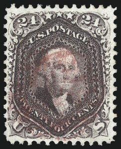 Sale Number 1074, Lot Number 727, 24c Lilac, Steel Blue, Violet Shades, 1861 Issue (Scott 70-70d)24c Red Lilac (70), 24c Red Lilac (70)