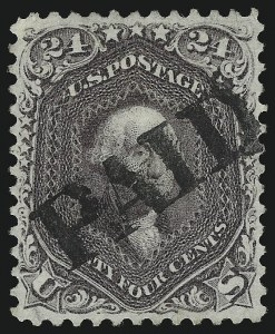 Sale Number 1074, Lot Number 728, 24c Lilac, Steel Blue, Violet Shades, 1861 Issue (Scott 70-70d)24c Red Lilac (70), 24c Red Lilac (70)