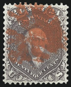 Sale Number 1074, Lot Number 729, 24c Lilac, Steel Blue, Violet Shades, 1861 Issue (Scott 70-70d)24c Red Lilac (70), 24c Red Lilac (70)