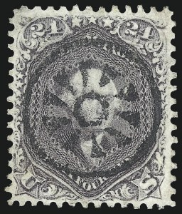 Sale Number 1074, Lot Number 732, 24c Lilac, Steel Blue, Violet Shades, 1861 Issue (Scott 70-70d)24c Red Lilac (70), 24c Red Lilac (70)