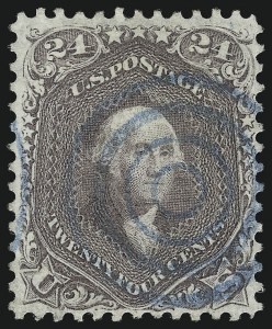Sale Number 1074, Lot Number 737, 24c Lilac, Steel Blue, Violet Shades, 1861 Issue (Scott 70-70d)24c Brown Lilac (70a), 24c Brown Lilac (70a)