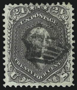 Sale Number 1074, Lot Number 739, 24c Lilac, Steel Blue, Violet Shades, 1861 Issue (Scott 70-70d)24c Brown Lilac (70a), 24c Brown Lilac (70a)