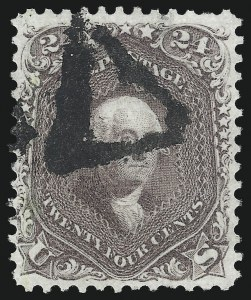 Sale Number 1074, Lot Number 740, 24c Lilac, Steel Blue, Violet Shades, 1861 Issue (Scott 70-70d)24c Brown Lilac (70a), 24c Brown Lilac (70a)