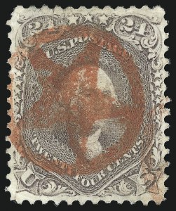 Sale Number 1074, Lot Number 742, 24c Lilac, Steel Blue, Violet Shades, 1861 Issue (Scott 70-70d)24c Brown Lilac (70a), 24c Brown Lilac (70a)