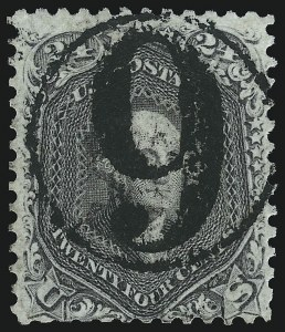 Sale Number 1074, Lot Number 743, 24c Lilac, Steel Blue, Violet Shades, 1861 Issue (Scott 70-70d)24c Brown Lilac (70a), 24c Brown Lilac (70a)