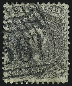 Sale Number 1074, Lot Number 744, 24c Lilac, Steel Blue, Violet Shades, 1861 Issue (Scott 70-70d)24c Brown Lilac (70a), 24c Brown Lilac (70a)