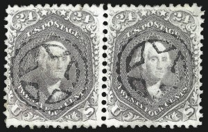 Sale Number 1074, Lot Number 745, 24c Lilac, Steel Blue, Violet Shades, 1861 Issue (Scott 70-70d)24c Brown Lilac (70a), 24c Brown Lilac (70a)