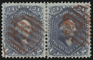 Sale Number 1074, Lot Number 754, 24c Lilac, Steel Blue, Violet Shades, 1861 Issue (Scott 70-70d)24c Steel Blue (70b), 24c Steel Blue (70b)