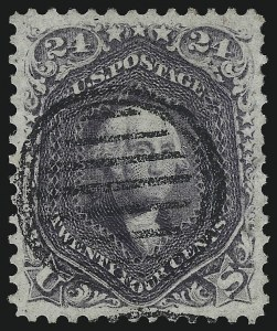 Sale Number 1074, Lot Number 755, 24c Lilac, Steel Blue, Violet Shades, 1861 Issue (Scott 70-70d)24c Violet, Thin Paper (70c), 24c Violet, Thin Paper (70c)